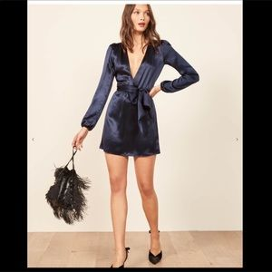 Reformation Silk Mini Dress XS